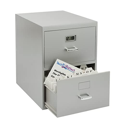 Mini Desktop Filing Cabinet Visiting Cards Box Organiser. For Alphabetical  Visitor