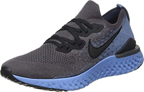 nike epic react flyknit gray running shoes