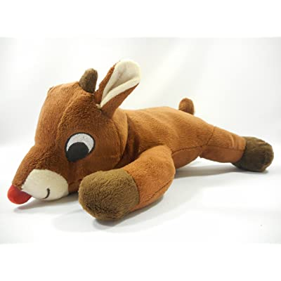 "Dan Dee Plush 12"" Long Rudolph The Red Nosed Reindeer with 50 Years Patch: Toys & Games"