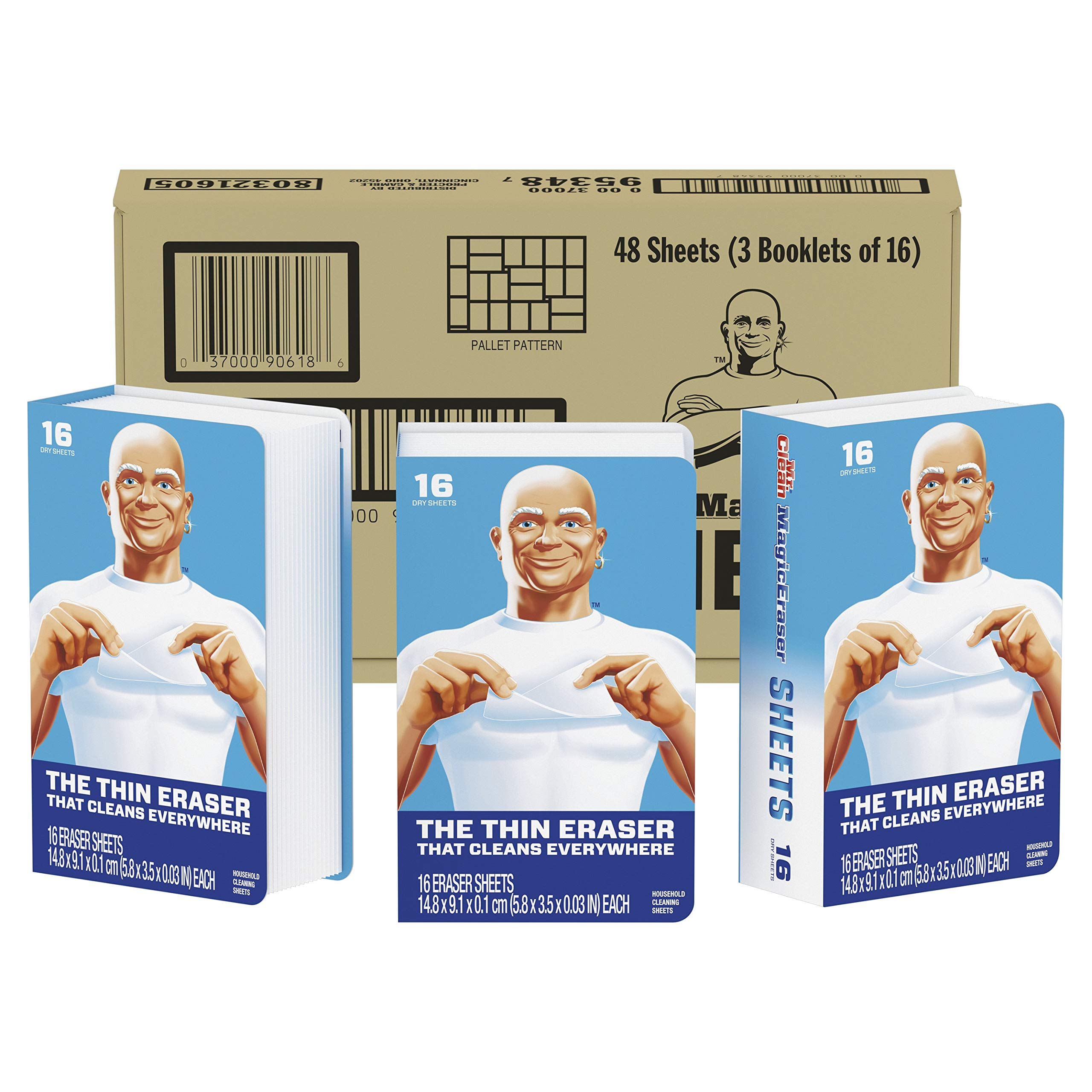 Mr. Clean Magic Eraser Cleaning Sheets, 3 Packs of 16 Sheets, 48 Count by Mr. Clean (Image #9)