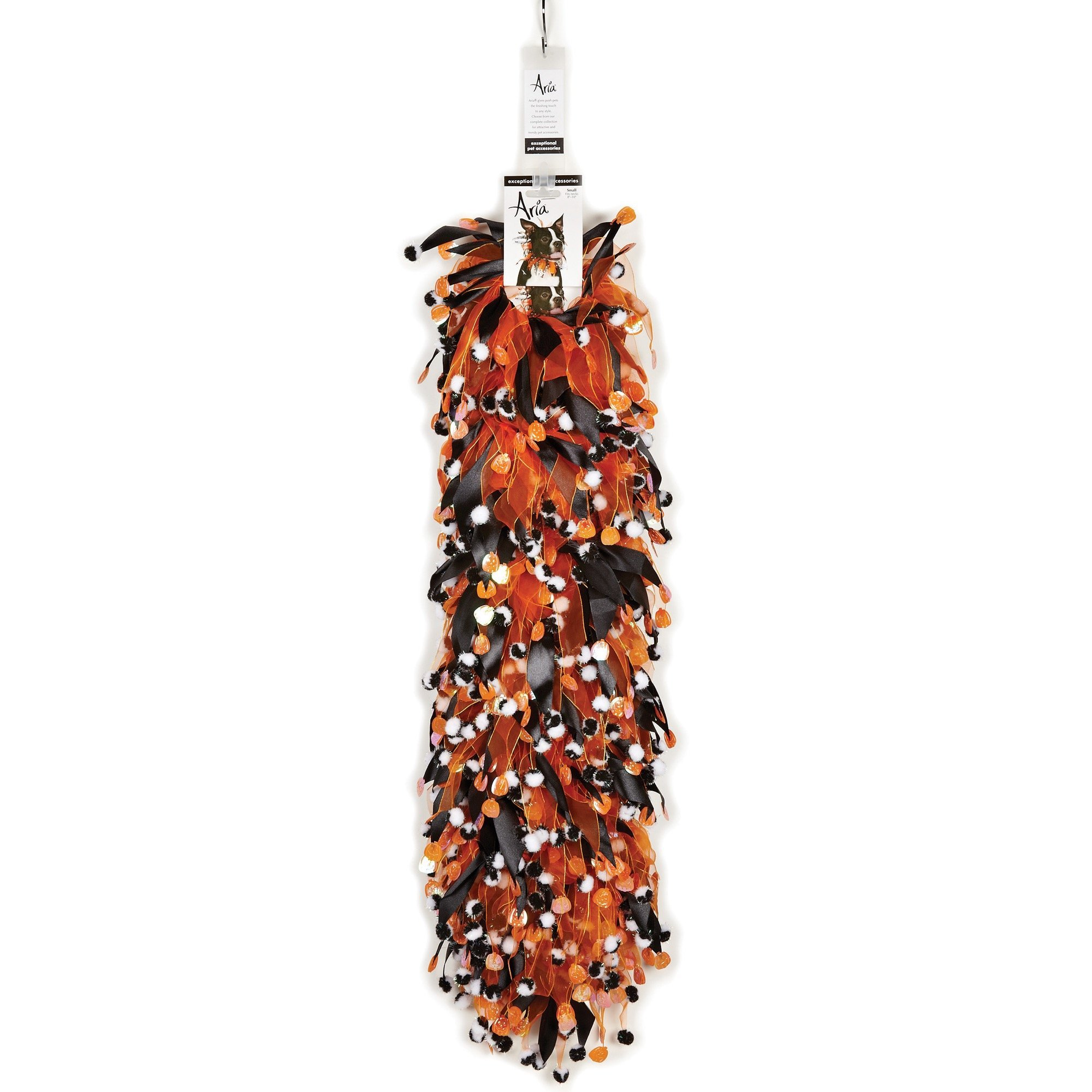 Aria Pumpkins & Pompom Scrunchies for Dogs, 12-Piece Clip Strips