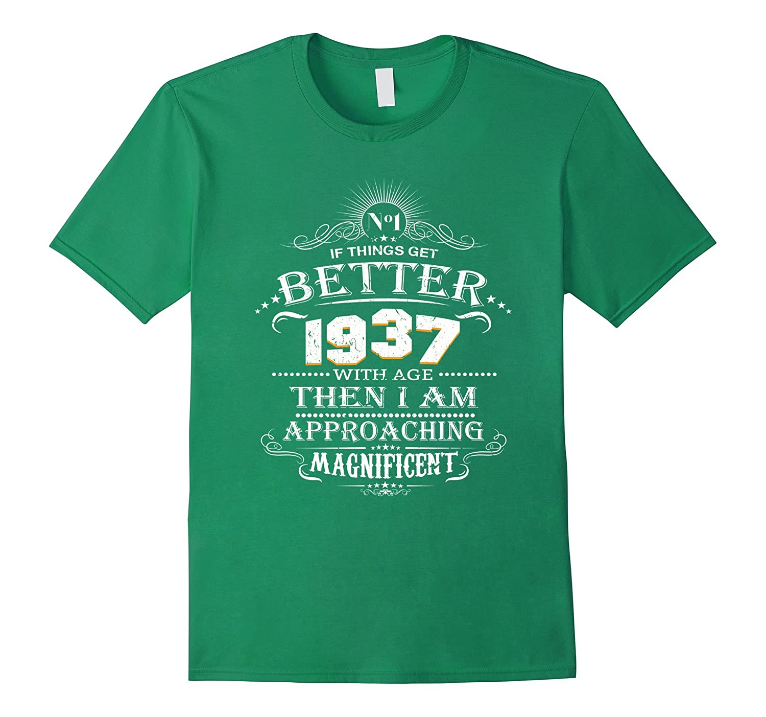 Made In 1937 80th Birthday 80 Years Old Gift T-Shirt-TH
