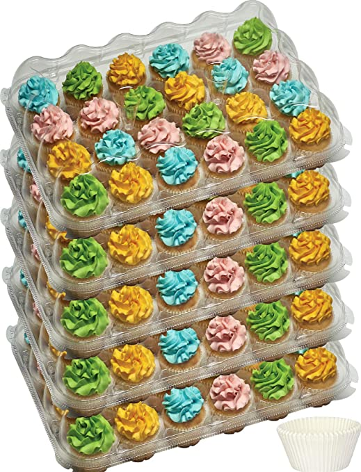 5 x Strong White 24 Cup Cake Cupcake Muffin Box /& Tray