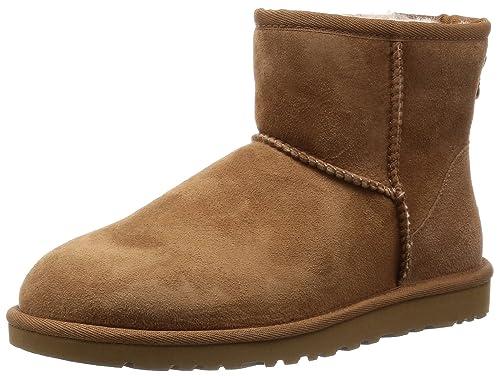Ugg Classic Mini - Botines planos para mujer, color Marrón (Chestnut), talla 38 EU: Amazon.es: Zapatos y complementos