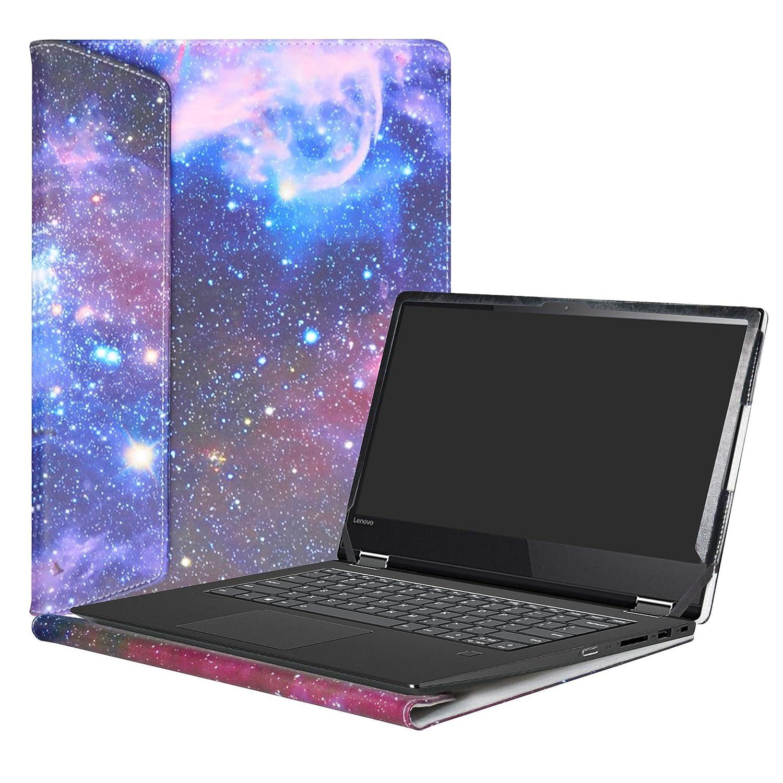 Alapmk Dise/ñado Especialmente La Funda Protectora de Cuero de PU Para 14 Lenovo Yoga 530 530-14IKB//Yoga 520 520-14ISK 520-14IKB Series Ordenador port/átil,Galaxy