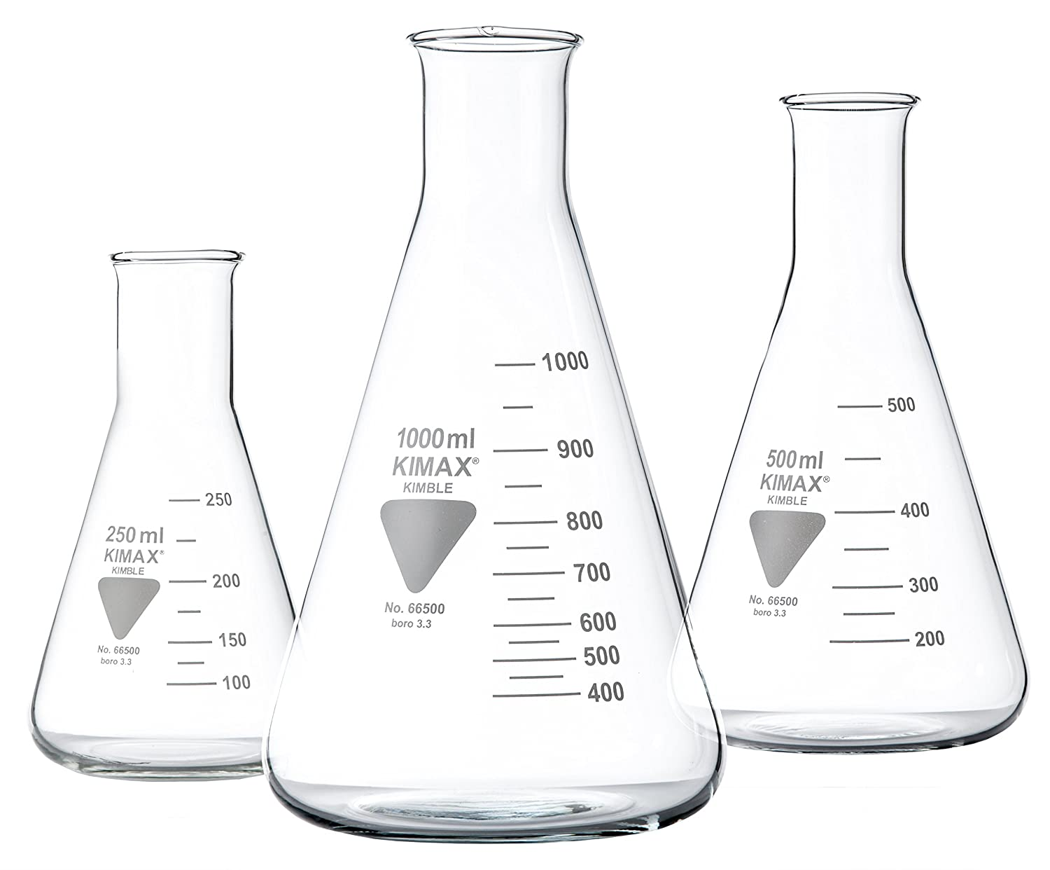 neolab 1– 0180  Erlenmeyer, enghals, kimax coktail 3,3, 500  ml 500 ml 1-0180