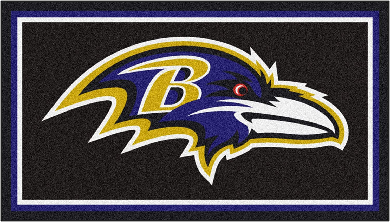3 x 5 Black x 5 Ft Area Rug x 5 Ft Area RUG3 Ft FANMATS NFL Baltimore Ravens 3 Ft
