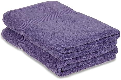 Superior - Juego de Toallas sábana de baño de algodón, Color Morado Real, 2