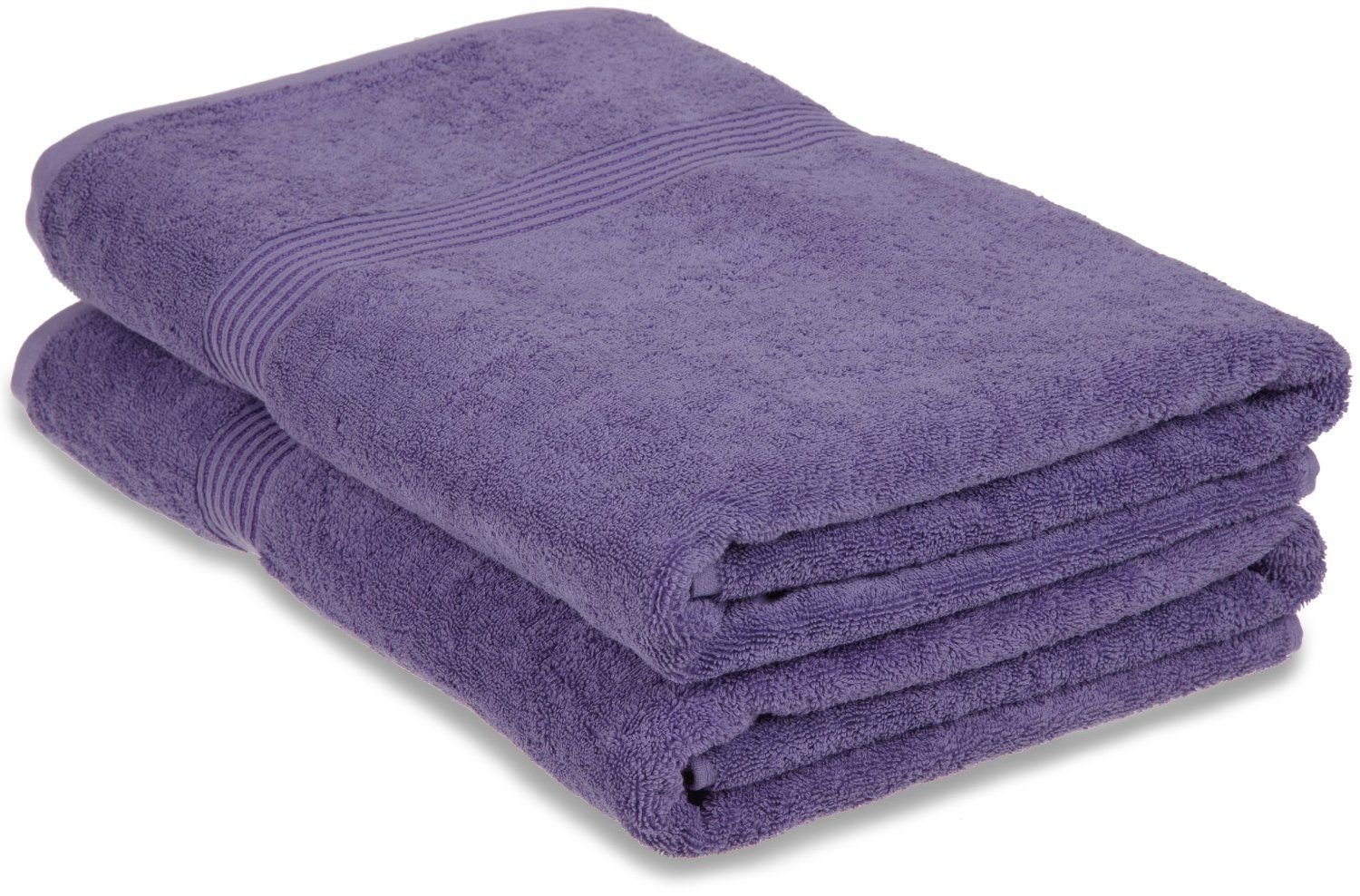 Superior Luxurious Soft Hotel & Spa Quality Oversized Bath Sheet Set of 2, Made of 100% Premium Long-Staple Combed Cotton - Royal Purple, 34'' x 68'' each