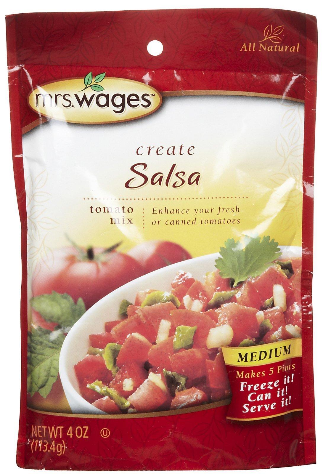 Mrs. Wages Medium Salsa Mix, 4.0 oz. (Pack of 1)
