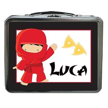 Amazon.com: Red Ninja Personalized Aluminum Lunch Box ...