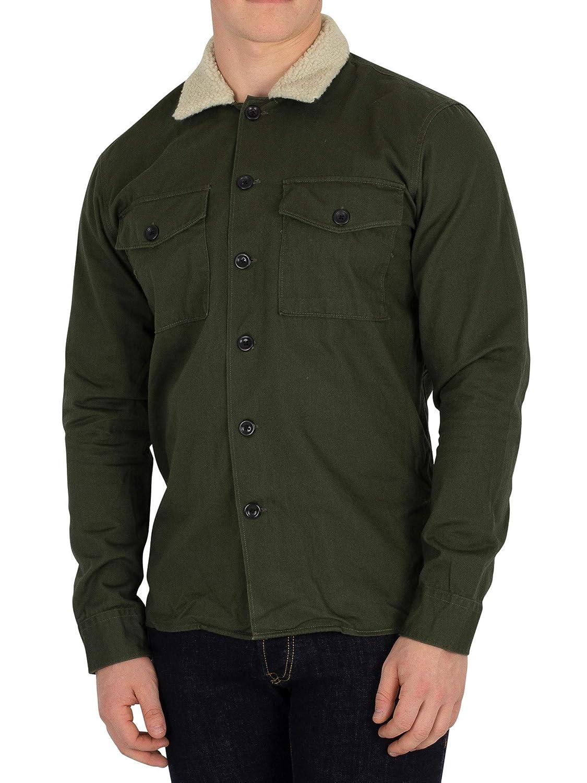 Jack & Jones Men's Nolan Fur Overshirt, Green