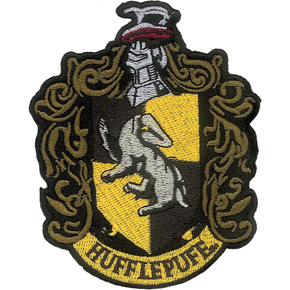 Ata-Boy Harry Potter Hufflepuff Crest 3 Full Color Iron-On Patch 61009HP