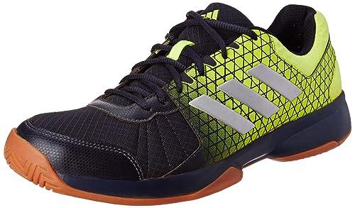 more photos 60bde cb953 Adidas Mens Net Nuts Indoor LeginkSilvmtSyello Badminton Shoes-6 UK