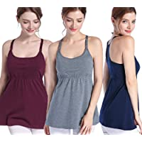 58eb80d9a8 SUIEK Women s Nursing Tank Top Cami Maternity Bra Breastfeeding Shirts