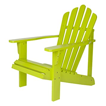 Shine Company Westport Adirondack Chair, Lime Green