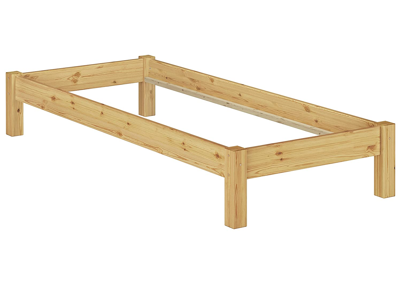 Erst-Holz/® Massivholz-Bettgestell Doppelbett 140x200 Buche Natur Futonbett ohne Zubeh/ör 60.84-14 oR