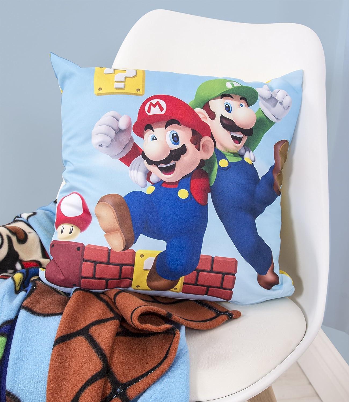 Super Mario - Cojín Cuadrado, 40 x 40 cm: Amazon.es: Hogar