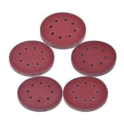 eBoot 50 Piezas 12,5 cm/ 5 Pulgadas Discos de Lijas Papel de Lija