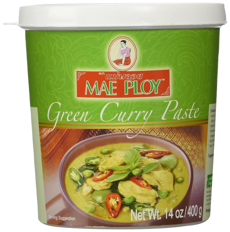 Thai Kitchen Yellow Curry Amazoncom Mae Ploy Thai Green Curry Paste 14 Oz Jar Curry