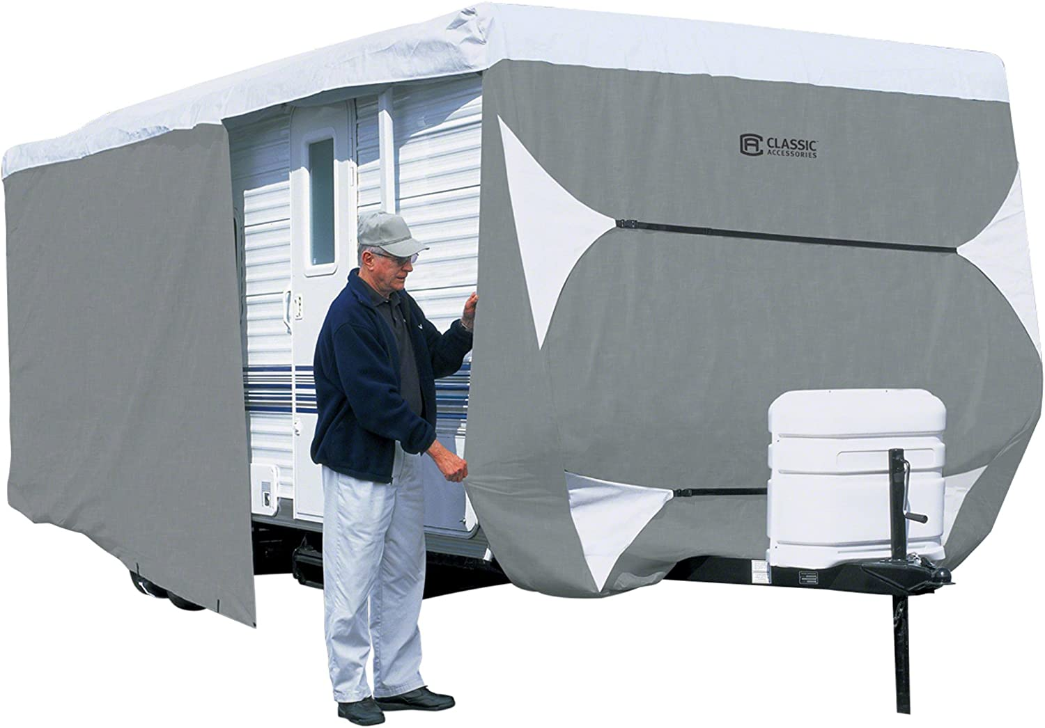 Fits 10-12 Trailers Classic Accessories OverDrive PolyPro 3 Deluxe Folding Camping Trailer Cover