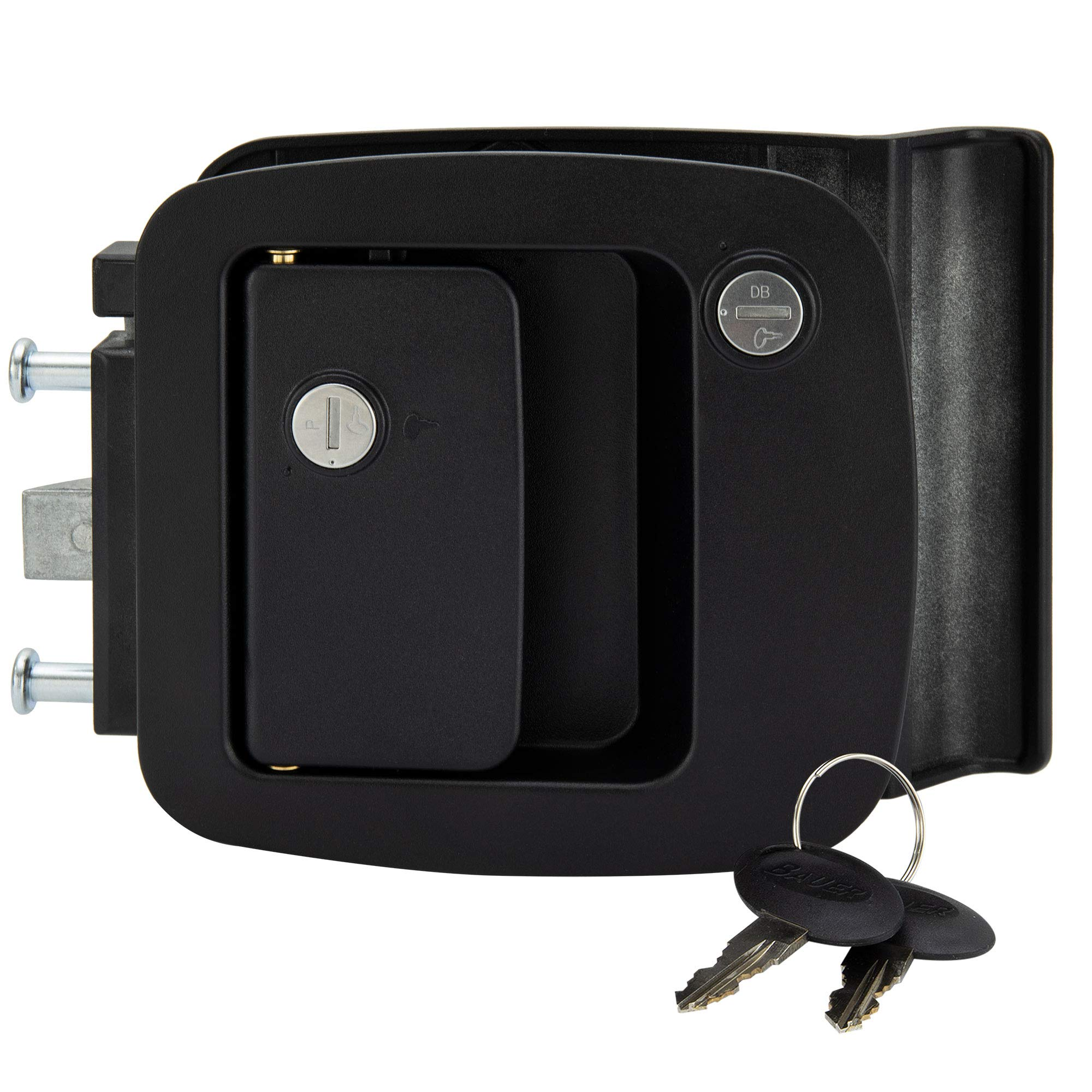 RecPro RV Entrance Door Lock BP-12RV 2-Pin Safety Lock | Camper Door Lock | Fifth Wheel Entry Door Lock