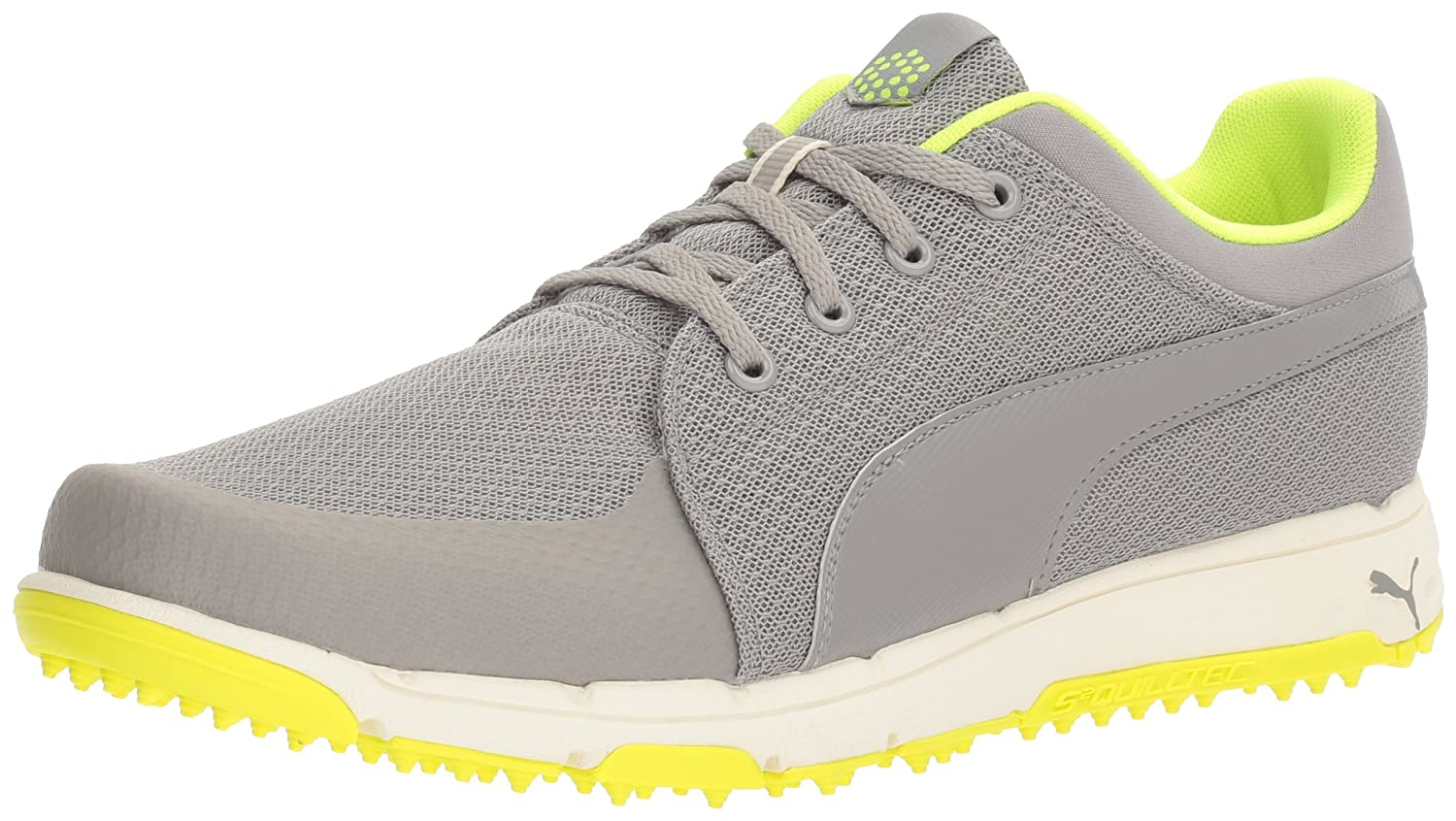 PUMA Men's Grip Sport Golf Shoe B01GIRHRKE 9.5 M US|Drizzle/Safety Yellow