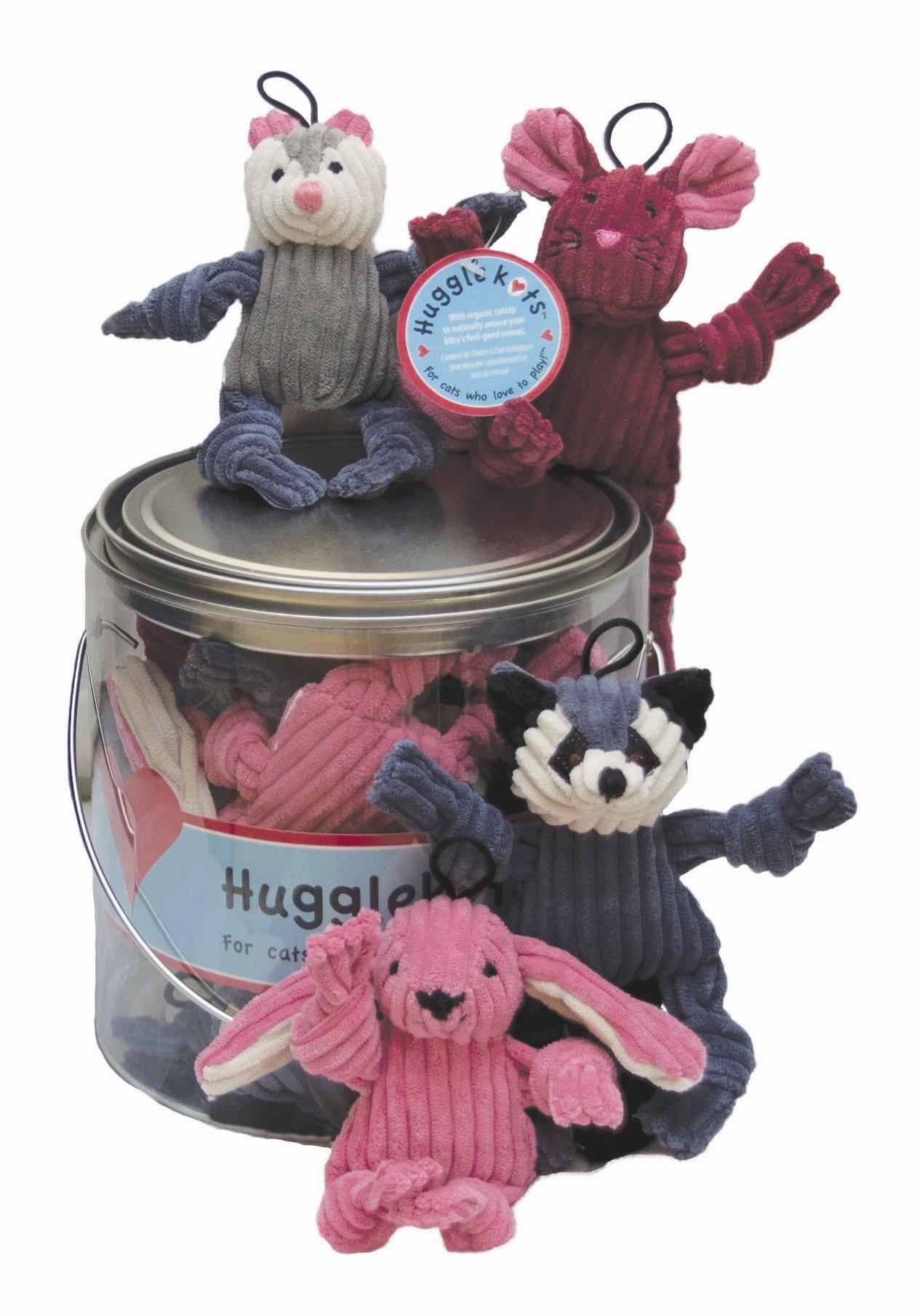 HuggleKats Corduroy with Organic Catnip Woodland Critters Assortment, 12 Count