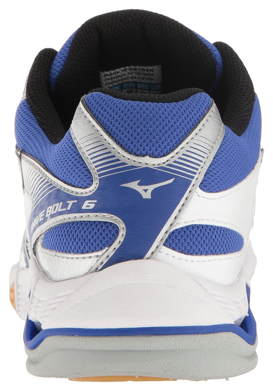 Mizuno Women's Wave Bolt 6 Volleyball-Shoes B01N1FFOKC 6 B(M) US|White/Royal
