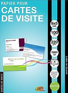 Paxton Lot De 100 Cartes Visite Crer Imprimer 9 X 5 Blanc