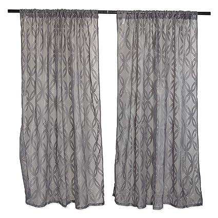 Dii Elegant Decorative Sheer Curtain Panels Window Treatments Or