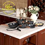Kitchen Academy Hammered Nonstick Cookware set