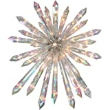 """Northlight 13.5"""" Clear Lighted Iridescent Icicle Christmas Tree Topper - Clear Lights"""