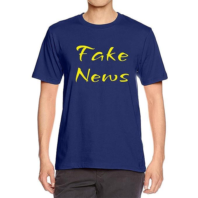 Camiseta Hombre, Longra ☆ Moda Los Hombres Sueltan Manga Cortas Fack News Impresión Camiseta tee Tops: Amazon.es: Ropa y accesorios