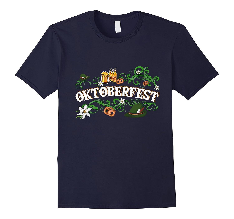 Oktoberfest T Shirt Funny Beer Hat Pretzel And Edelweiss-T-Shirt
