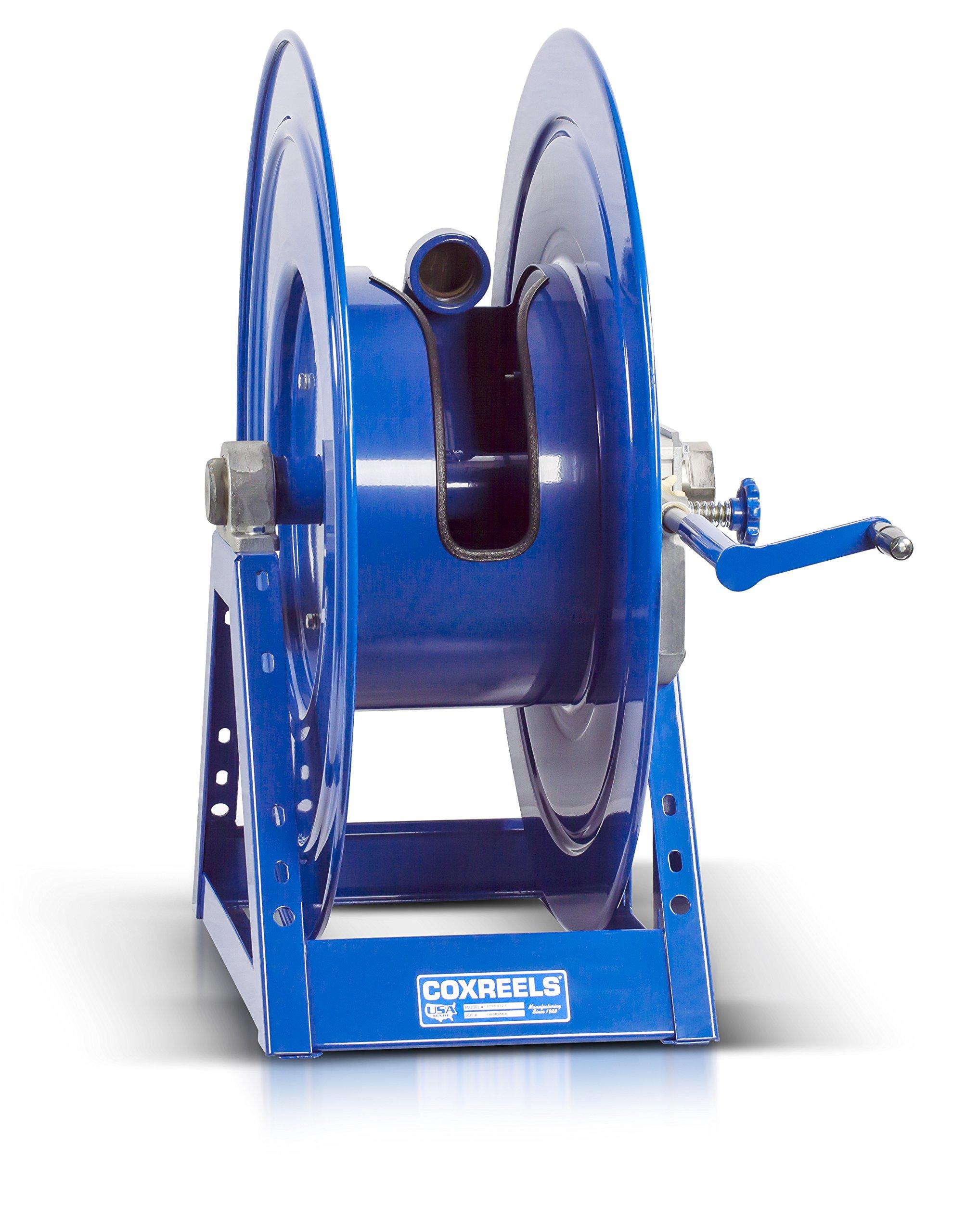 Coxreels 1195-1332-C Beveled Gear Hand Crank Hose Reel: 2'' I.D., 75' hose capacity, less hose, 600 PSI