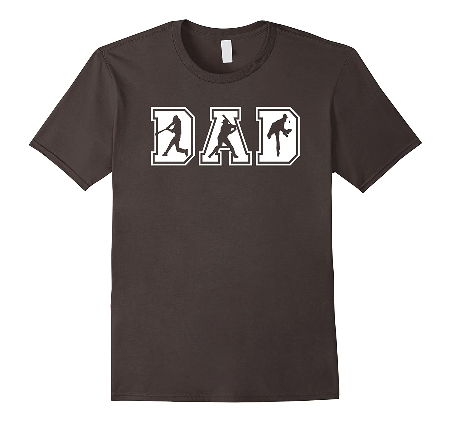 Mens Baseball Dad Funny Fathers Day T-Shirt-TH