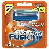 ジレット 髭剃り フュージョン 5+1 替刃8個入