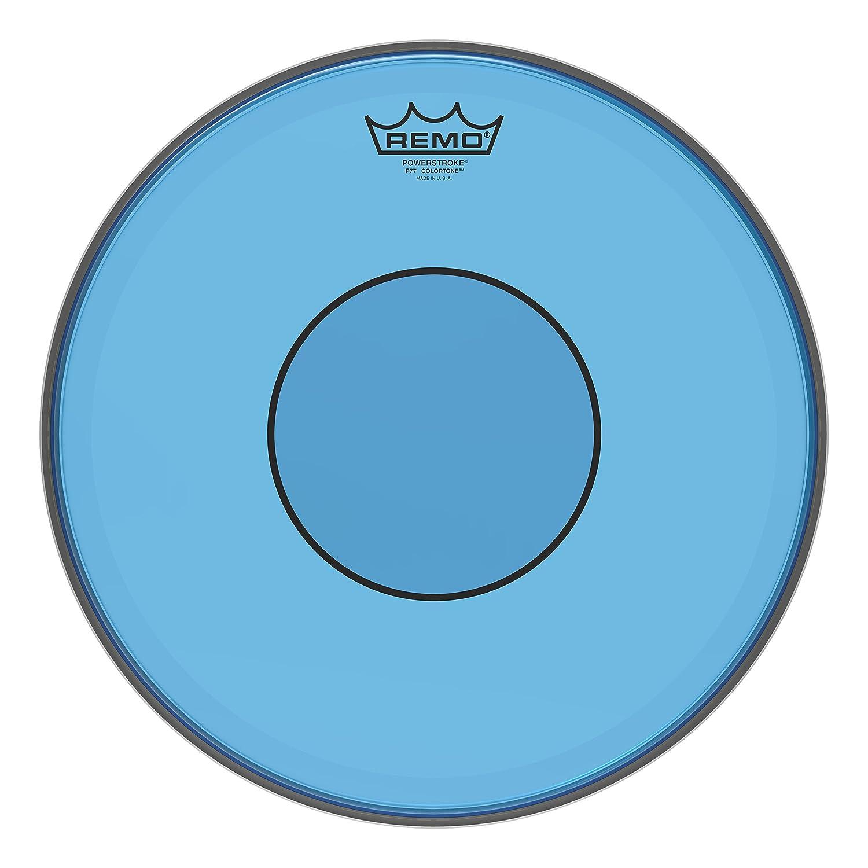 Remo Powerstroke 77 Colortone Blue Drumhead, 13