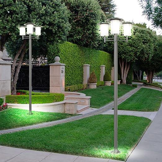 Juego de 2 lámparas led solares Lámparas de Pie Camino de jardín ...