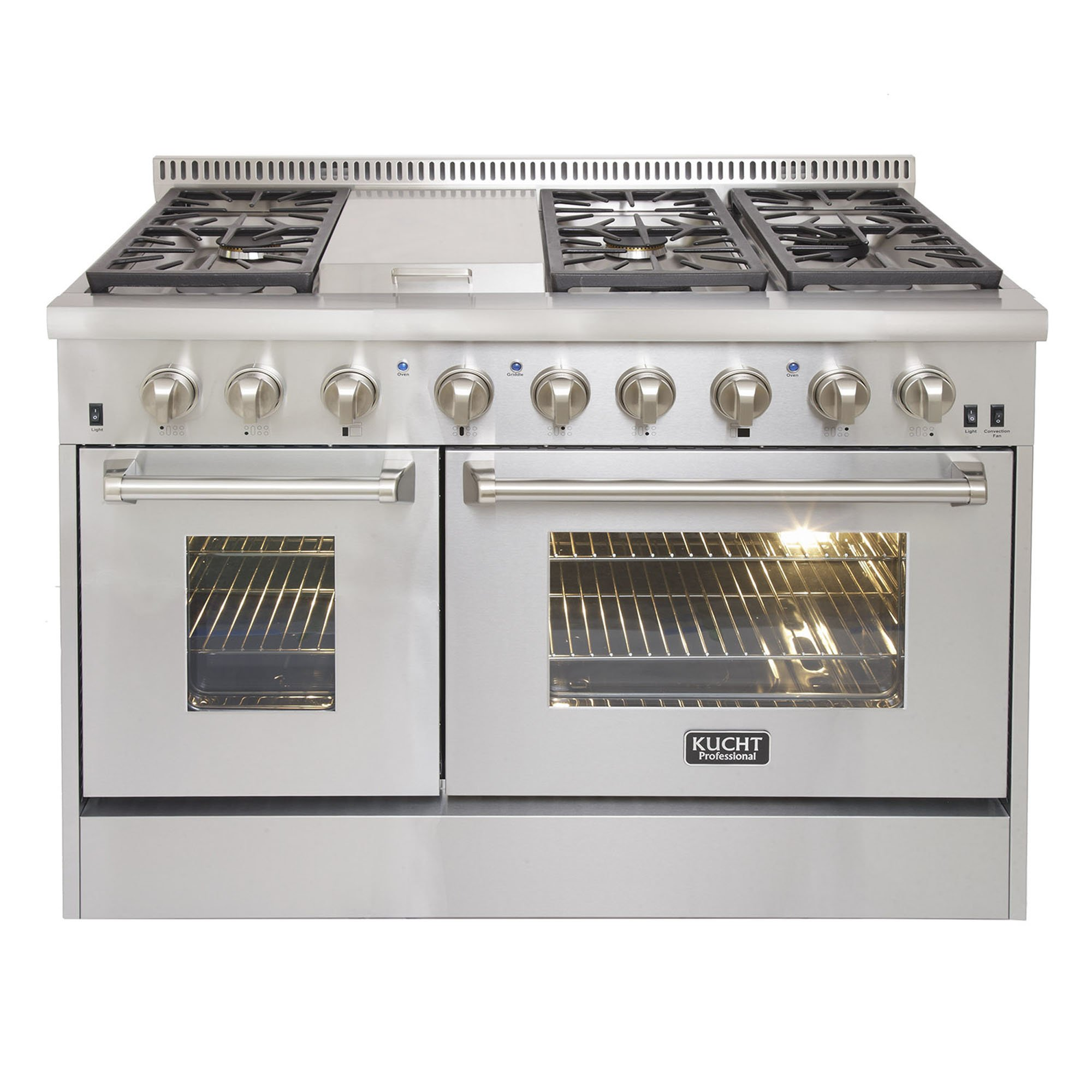 Kucht KRD486F Professional 48'' 6.7 cu. ft. Dual Fuel Range for Natural Gas, Stainless-Steel by Kucht