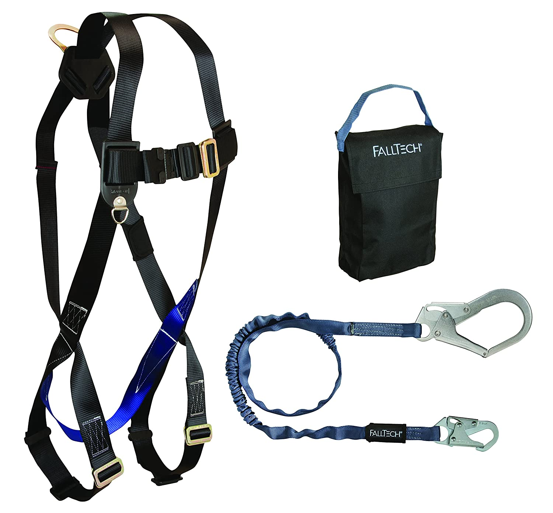 FallTech KIT075935P Carry Kit - 7007 Harness, 82593 Lanyard, 5005P Storage Bag, Black by FallTech B014DR6DLA