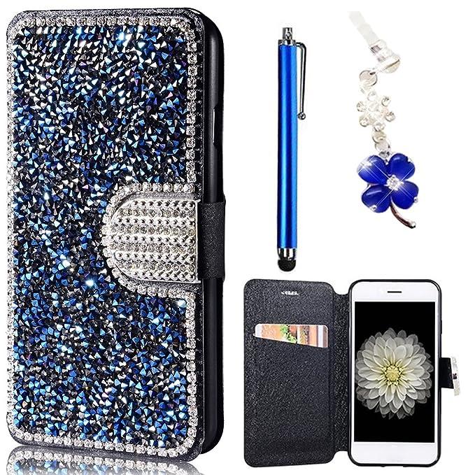5 opinioni per Wallet Cover per Samsung Galaxy S7 Edge G935F, Premium Pelle Folio PU e Bling