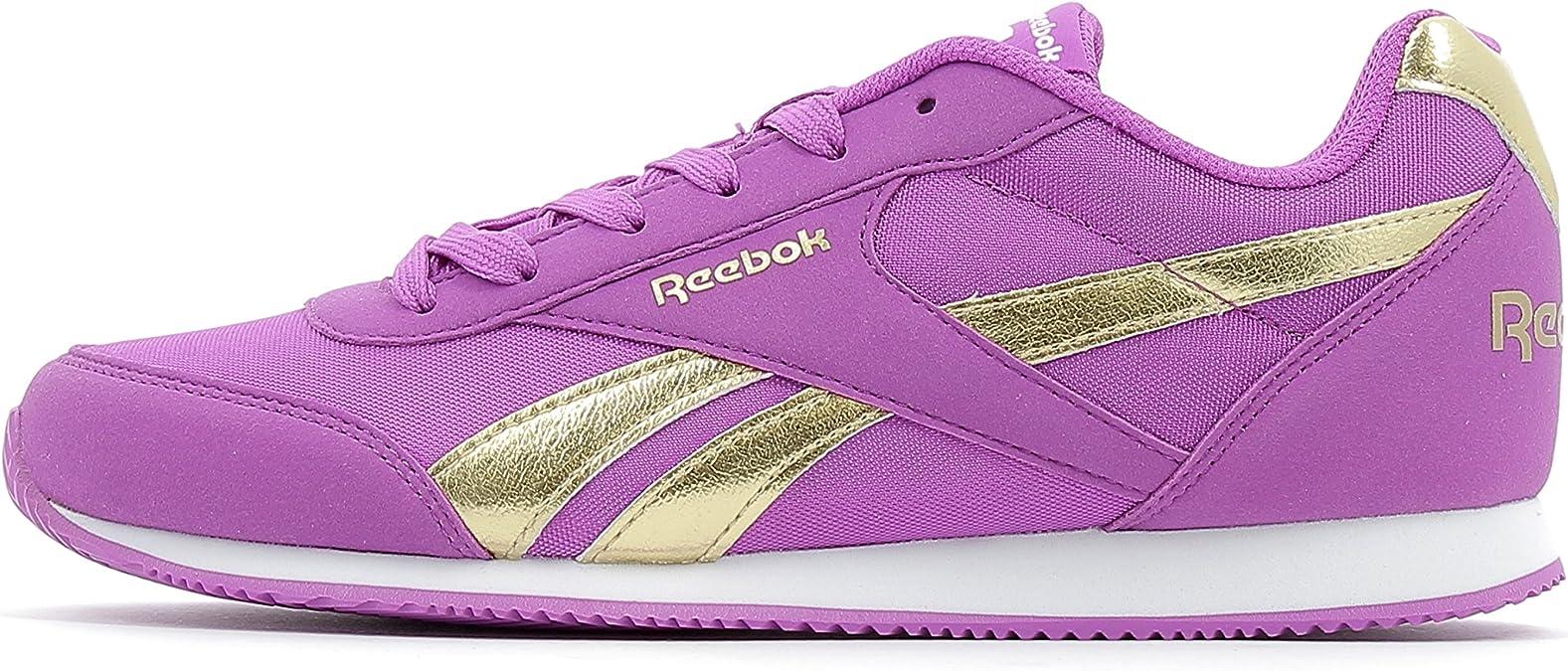 Reebok Royal Cljog 2Rs, Zapatillas de Deporte para Niñas, Morado (Vicious Violet/Gold), 27 EU: Amazon.es: Zapatos y complementos