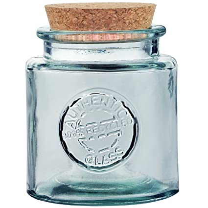 Amazoncom Authentic Recycled Thick Heavy Duty Glass Jar With Cork