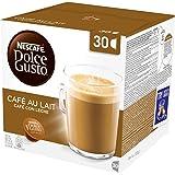 NESCAFÉ Dolce Gusto Café Au Lait, Pack of 3 (Total 90 Capsules, 90 Servings)