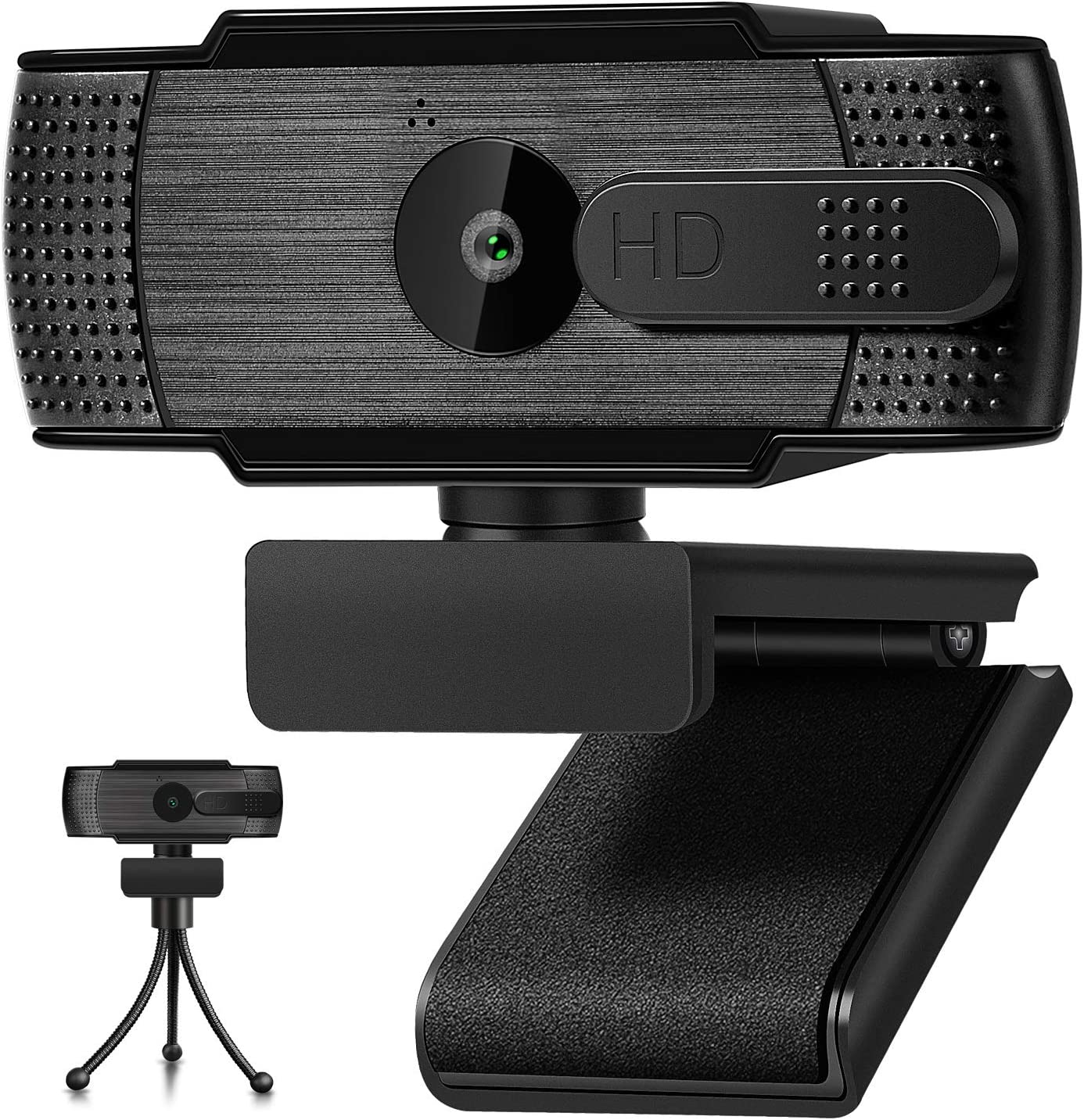 Webcam with Microphone 1080P HD Webcam USB 110-Degree Wide Angle Camera Video Streaming Webcam for Computer Desktop and Laptop with Privacy Cover and Tripod for Conferencing and Gaming