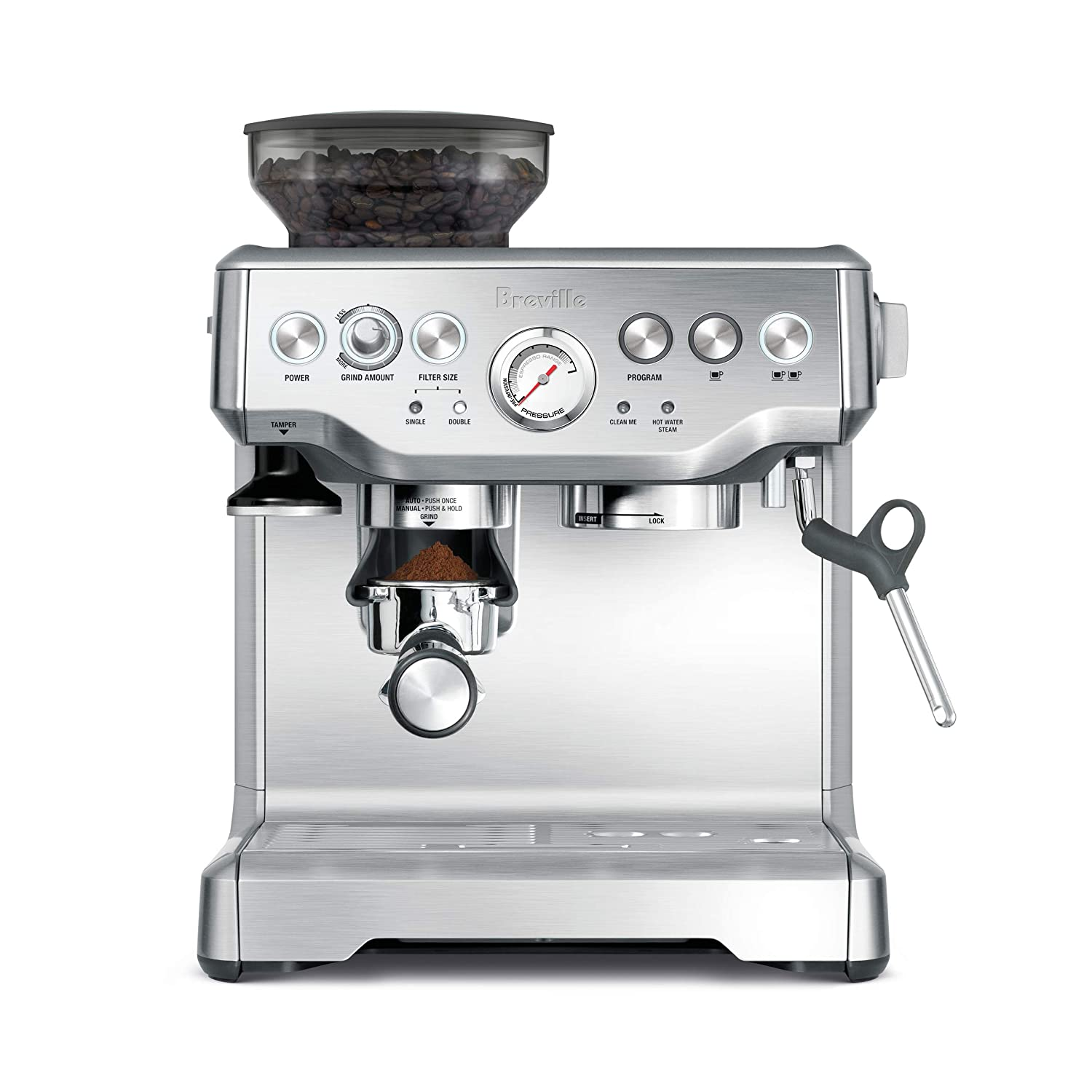 editor's pick: breville bes870bsxl the barista express coffee machine