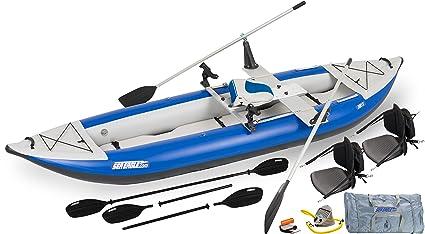 Amazon.com: Sea Eagle 380 x Inflable Explorer Kayak QuikRow ...