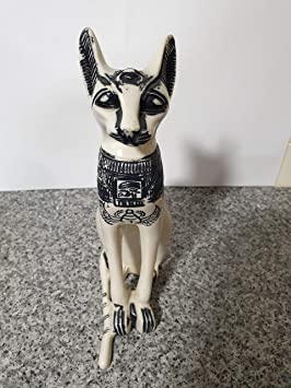 Stylex Party Estatua de Gato Egipcio Blanco con Diosa y basteto, 25 cm: Amazon.es: Hogar